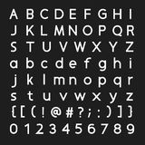 Font and number  design Royalty Free Stock Photos