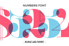 Font of numbers in classical french didot royalty free illustration
