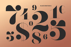 Font of numbers in classical french didot style royalty free illustration