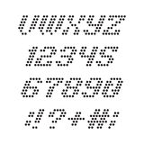 Font and numbers from dots Royalty Free Stock Photography