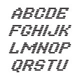 Font and numbers from stripes Stock Images