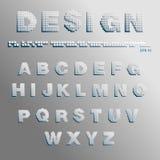 Font pixels. Alphabet consisting of pixels vector Royalty Free Stock Photos