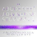 Font pixels. Alphabet consisting of pixels vector Stock Photo