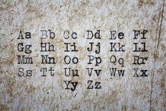 Font printed on vintage typewriter Stock Image