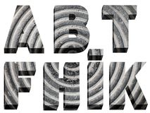 Font radial design. Bulk stone font radial design on a white background Royalty Free Stock Photography