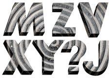 Font radial design. Bulk stone font radial design on a white background Stock Images