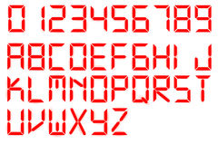 Font Red Glowing Digital Style Royalty Free Stock Images