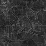 Font roler seamless black Stock Photography