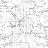 Font roler seamless white Stock Images