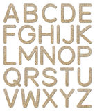 Font rough gravel texture alphabet A to Z Royalty Free Stock Image