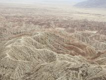 Font`s Point Overlooking the Borrego Badlands. In Anza-Borrego Desert State Park, California Royalty Free Stock Photos