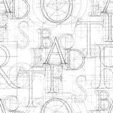 Font seamless white 01. Font seamless pattern, vector illustratuon clip-art royalty free illustration