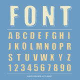 Font sketch alphabet, Vector illustration Stock Photo