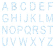 Font from snowflakes Stock Images