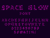 Font space alphabet typeface script with minimal design typographic modern graphic vector illustration. Stock Photo