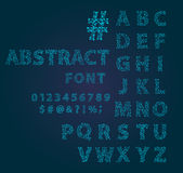 Font space alphabet typeface script with minimal design typographic modern graphic vector illustration. Royalty Free Stock Photography