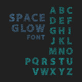 Font space alphabet typeface script with minimal design typographic modern graphic vector illustration. Royalty Free Stock Photos