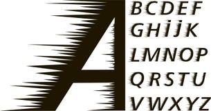 Font.speed espinoso ilustración del vector