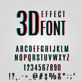 Font stereoscopic 3d effect. In vector format Stock Photography