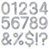 Font stone wall texture numeric 0 to 9 Stock Images