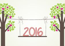 2016 font on the swing Stock Photography