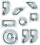 Font Symbol illustration. Vector Illustration of Abstract font Stock Photography