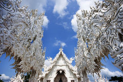 Font of Thai temple at Chiang Rai. Thailand Royalty Free Stock Photos
