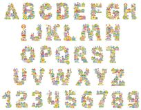 Font Toy Town Vector Illustration