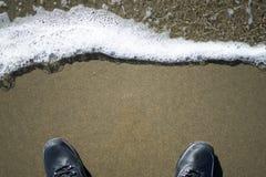 Font un pas sur l'eau dans les terres finissent, San Francisco Images stock