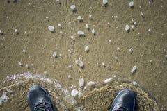 Font un pas sur l'eau dans les terres finissent, San Francisco Photos libres de droits