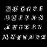 Font uppercase uppercase vector vintage Stock Images