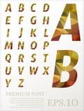 Font vector lowpoly design style illusstration eps.10.  stock illustration