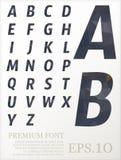 Font vector lowpoly design style illusstration eps.10 stock illustration