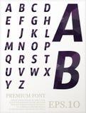 Font vector lowpoly design style illusstration eps.10. C stock illustration