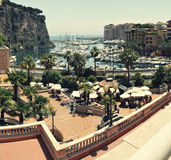 Font Vieil , Monaco. Panorama from port Font Vieil , Monaco royalty free stock photography