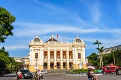 Font view of Hanoi Opera House in Hanoi capital Royalty Free Stock Image