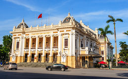 Font view of Hanoi Opera House in Hanoi capital Royalty Free Stock Photography