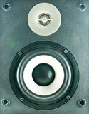 Font view of loudspeaker Stock Photo