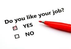 Font vous aiment votre travail ? Photographie stock libre de droits