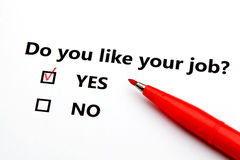 Font vous aiment votre travail ? Images libres de droits