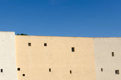 Fontage van een beige gebouw Royalty-vrije Stock Afbeelding