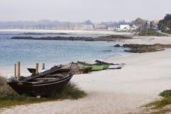 Fontaiña or Sirenita Beach in Vigo. Royalty Free Stock Photos