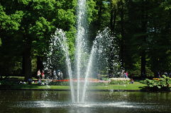 Fontain в саде Keukenhof Стоковые Изображения RF