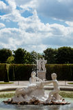 Fontain in Belvedere Palace Stock Photos
