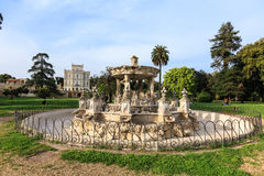 Fontain Bernini named Cochlea in Villa Doria Pamphili at the Via Aurelia Antica Stock Photo