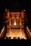 Fontain de nuit à Barcelone Photo stock