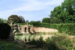Fontain Giglio en villa Doria Pamphili au par l'intermédiaire d'Aurelia Antica Images stock