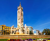 Fontain at Luceros Square. Alicante Royalty Free Stock Photos
