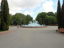 Fontain no parque no verão Fotos de Stock