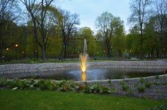 Fontain in park Royalty-vrije Stock Afbeeldingen
